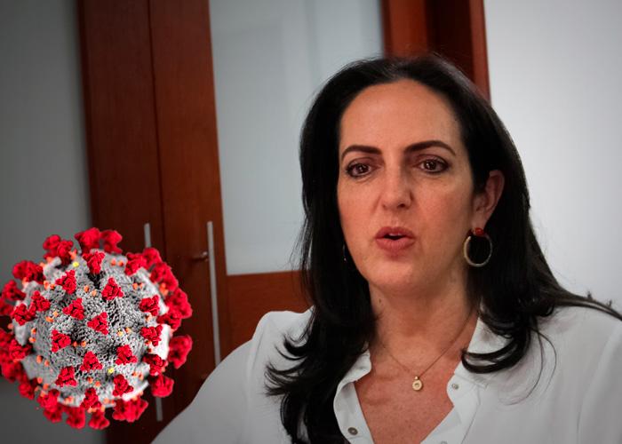 Maria Fernanda Cabal se burla de los mamertos que le deseaban el Coronavirus