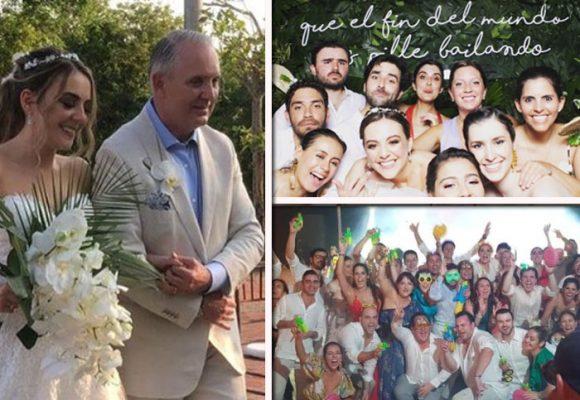 La boda de la hija del General Mejía en pleno coronavirus