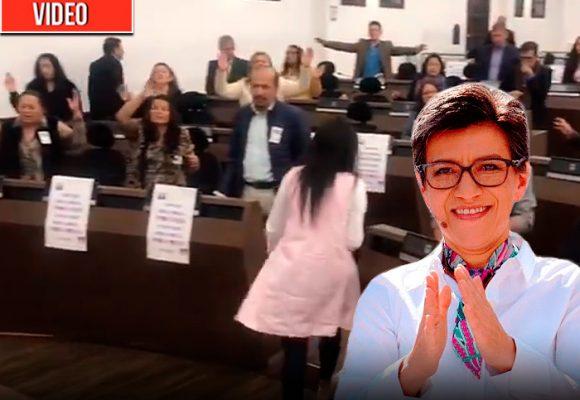 Oratón cristiana por Claudia López en el Concejo de Bogotá