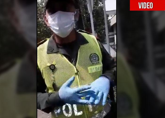 Ni con el Coronavirus paran los abusos de la policía: ¡multas de 1 millón al que no lleve guantes ni tapabocas!