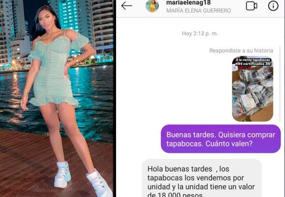La instagramer que está vendiendo tapabocas a 18 mil pesos