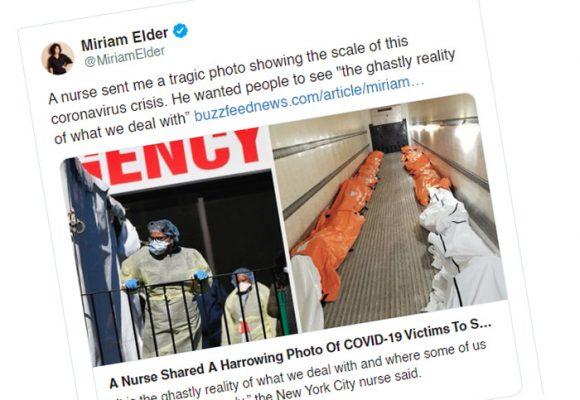 La impactante foto tomada por una enfermera en Nueva York
