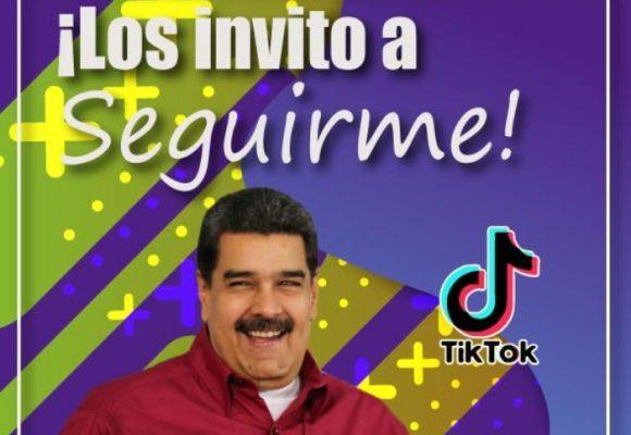 Maduro abrió cuenta en TikTok
