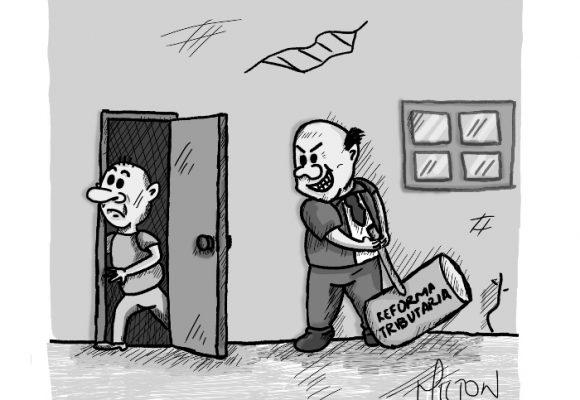 Caricatura: Inevitable reforma tributaria