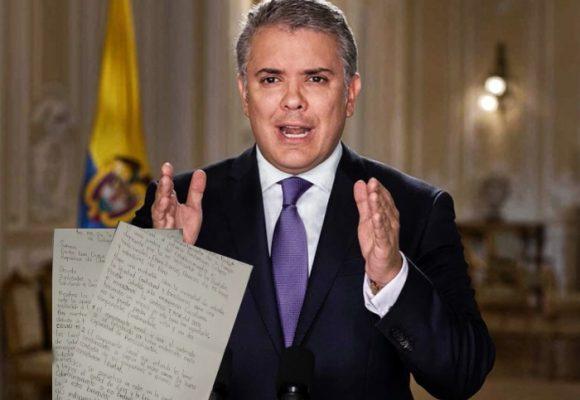 Carta abierta al Presidente Duque desde la cárcel de Cartago