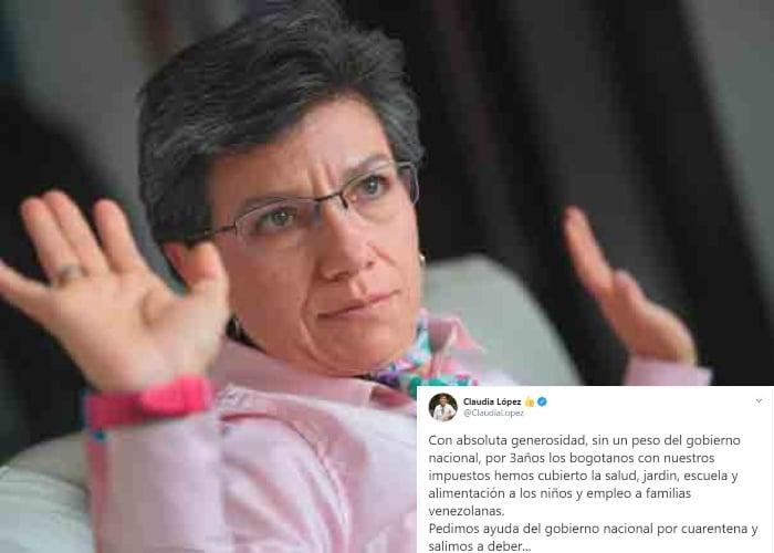 El abucheo en redes a Claudia López por sus declaraciones sobre venezolanos