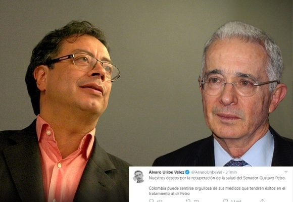 Uribe le desea lo mejor a Petro