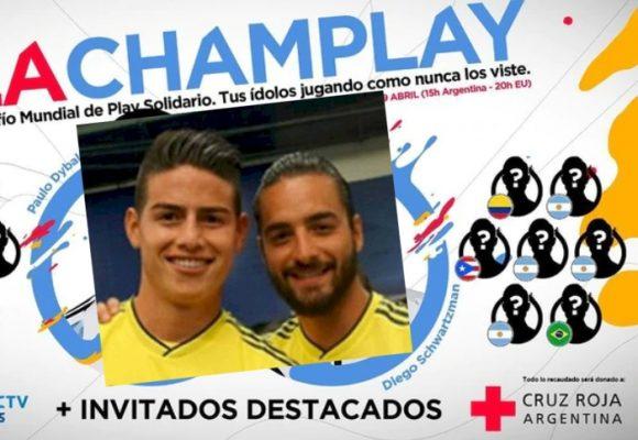 James y Maluma, protagonistas de torneo de fútbol solidario de Play Station