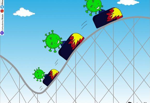 Caricatura: El COVID-19 no se detiene