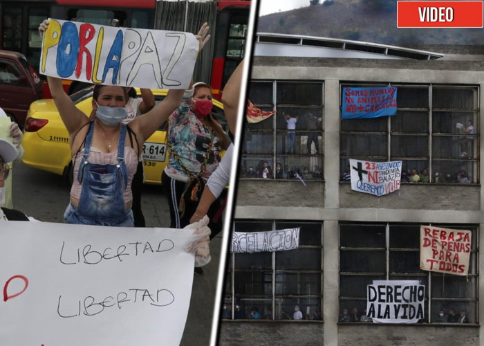 Presos y sus familiares le meten presión a Minjusticia desde La Picota