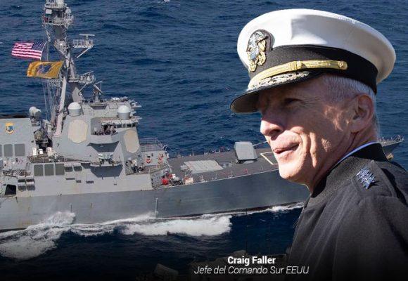 El jefe del comando Sur que comanda la fuerza naval gringa que avanza hacia Venezuela