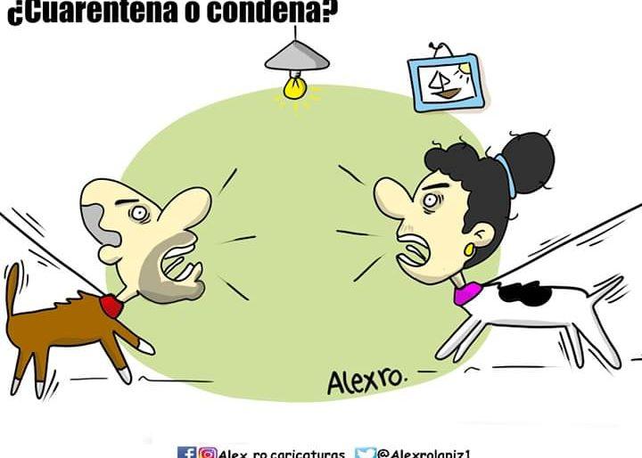 Caricatura: ¿Cuarentena o condena?