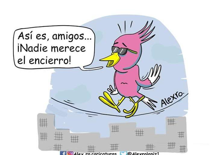 Caricatura: Nadie merece el encierro
