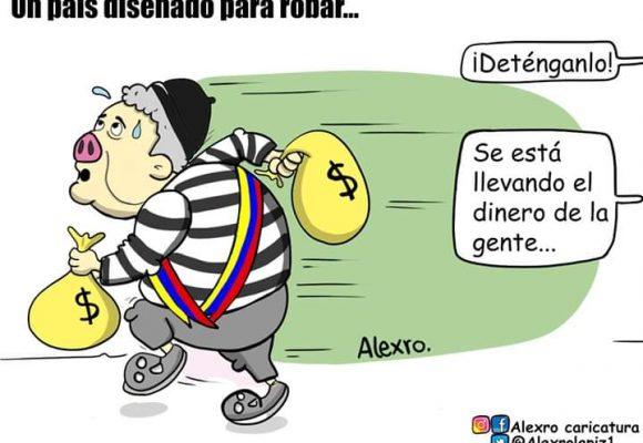 Caricatura: Colombia, un país diseñado para robar