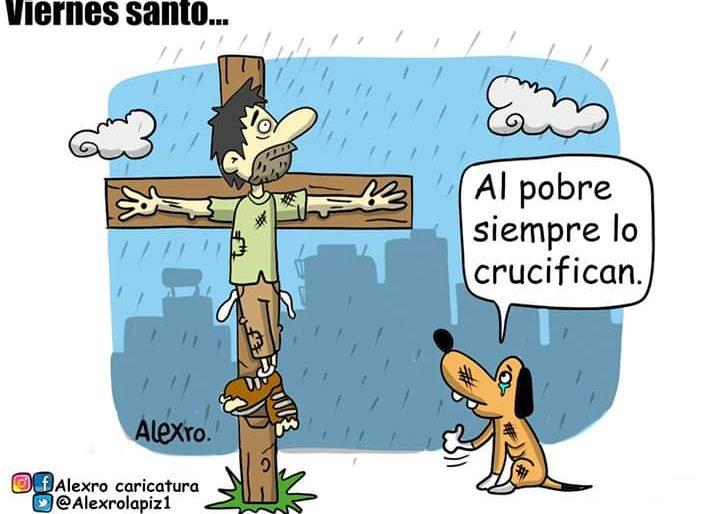 Caricatura: Viernes santo