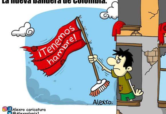Caricatura: La nueva bandera de Colombia