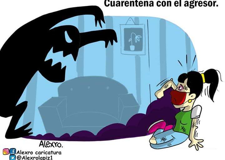 Caricatura: Cuarentena con el agresor