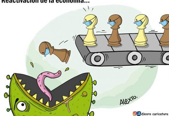 Caricatura: Reactivación de la economía