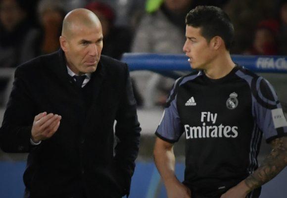 Por vago James nunca le pudo callar la boca a Zidane