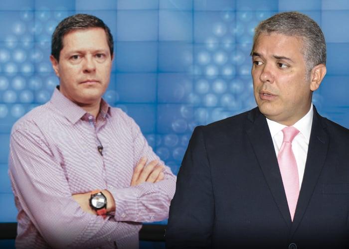La peinada que le pegó el director de Noticias Caracol a Iván Duque
