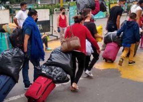 El coronavirus pone a venezolanos de regreso a su país