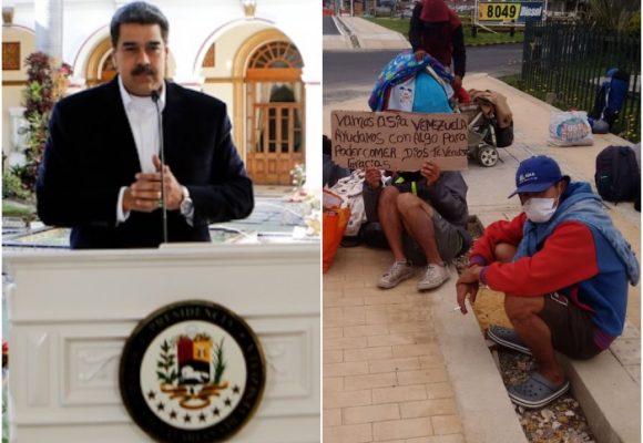 Maduro manda a recoger los venezolanos varados en Colombia