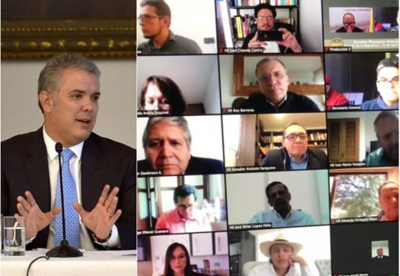 Con el ojo puesto en Duque, el Congreso estrena sesiones virtuales