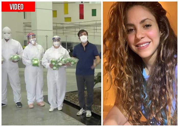 Con tapabocas y ventiladores, Shakira le tiende la mano a Barranquilla