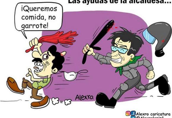 Caricatura: Las ayudas de la alcaldesa