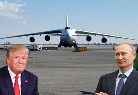 Putin se la metió toda: envió a EE.UU. el mega avión Antonov