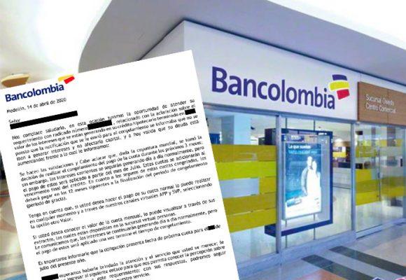 Indignación: Bancolombia sigue cobrando intereses en pleno coronavirus