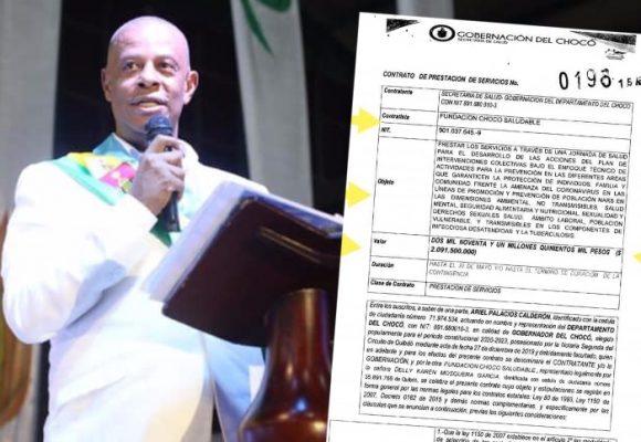 Suspendido gobernador del Chocó: $2.000 millones para capacitaciones contra COVID-19