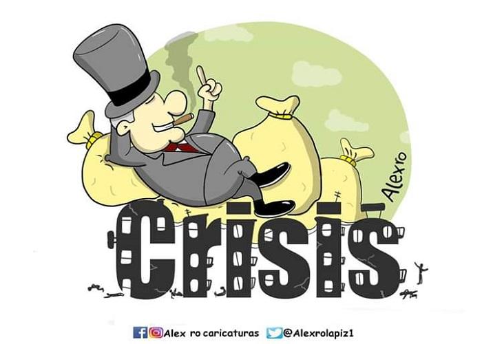 Caricatura: ¡Crisis!
