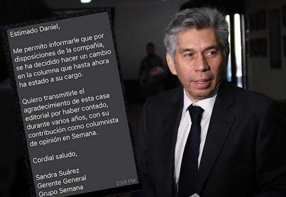 Despedido de Semana Daniel Coronell con un whatsapp
