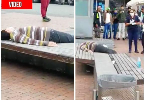 Desconcierto en Bogotá por videos de gente enferma en la calle