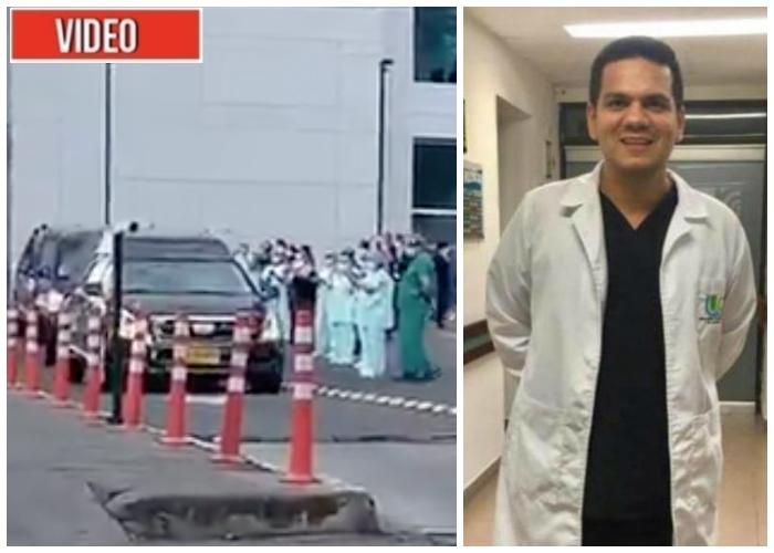 El último adiós a Carlos Nieto, primer médico fallecido por COVID-19