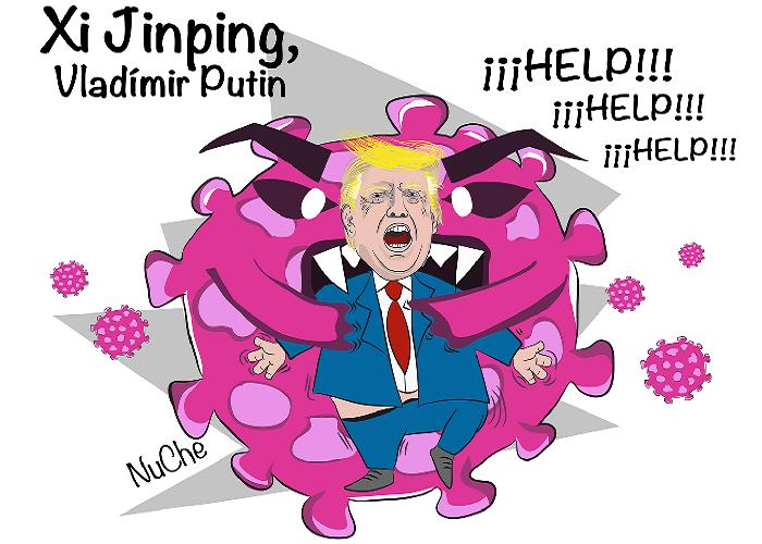 Caricatura: Nuevas relaciones internacionales