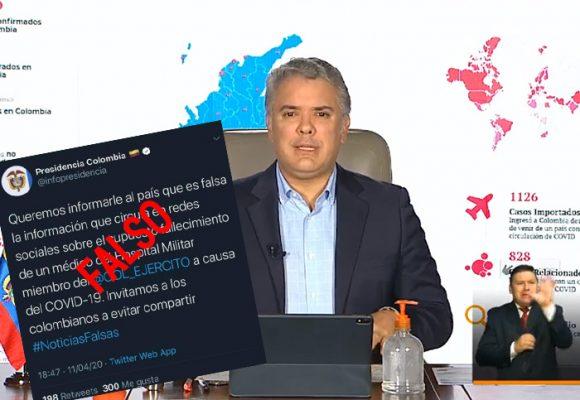 ¿La Presidencia de Colombia genera noticias falsas en tiempos de Coronavirus?