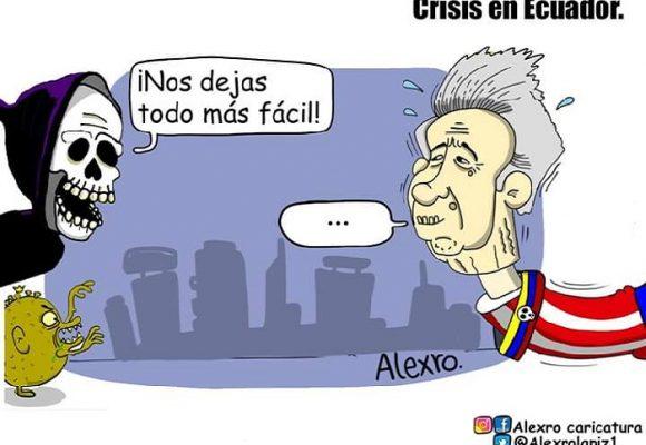 Caricatura: Crisis en Ecuador
