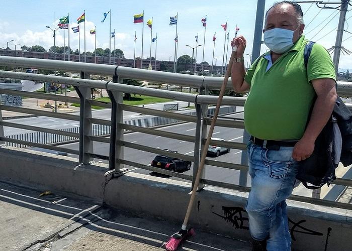 Nelson Parra, el escobita más solitario del mundo