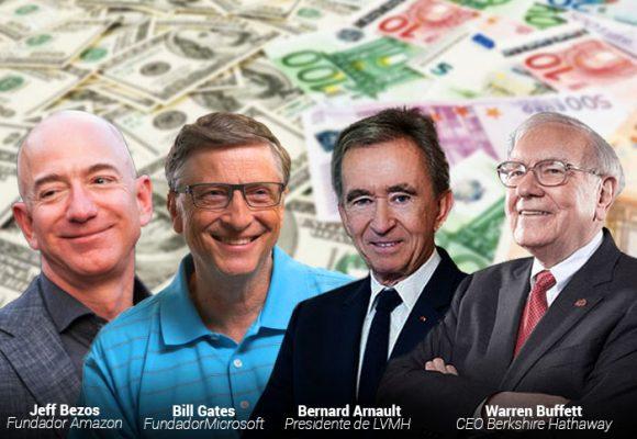 Los 10 billonarios del mundo antes de la debacle del coronavirus