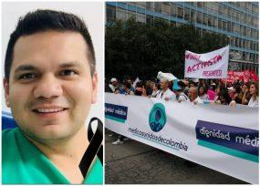 La triste despedida de uno de sus colegas, unió a los médicos en una sola voz