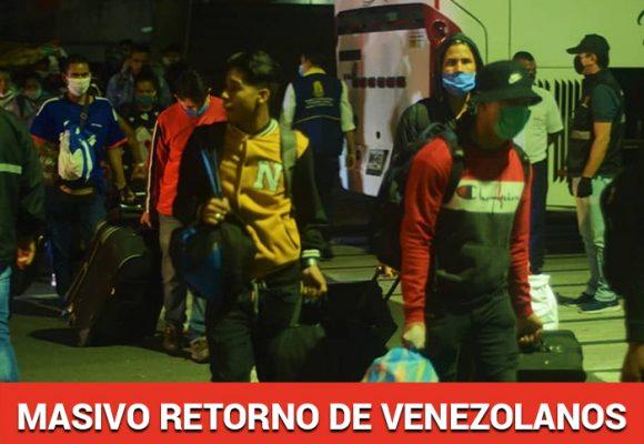 Con los bolsillos vacios vuelven a Venezuela en busca de  sus familias