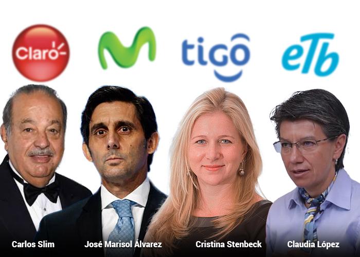 Los cuatro que controlan el negocio del internet en Colombia