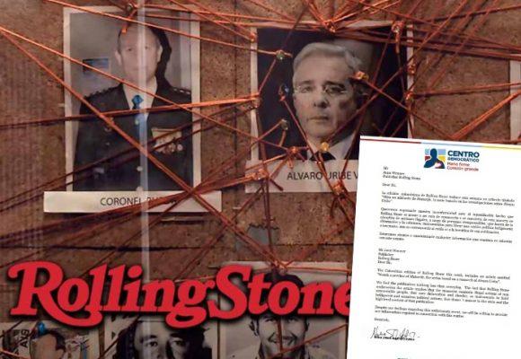 Duro reclamo del Centro Democrático a la Rolling Stone