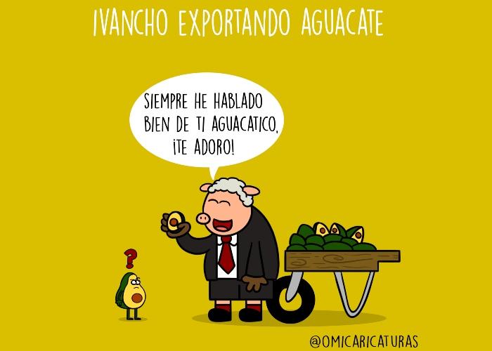 Caricatura: Exportando aguacate