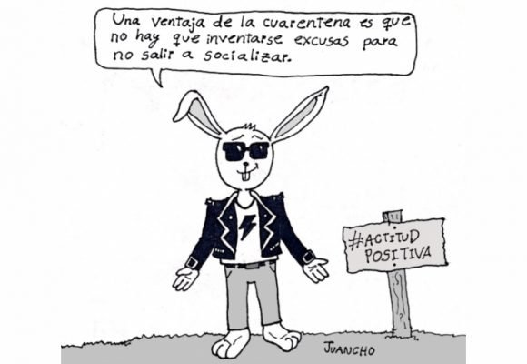 Caricatura: Actitud positiva en tiempos de cuarentena 2