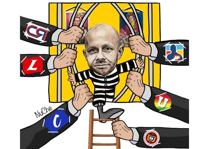 Caricatura: Ley de fuga para Arias