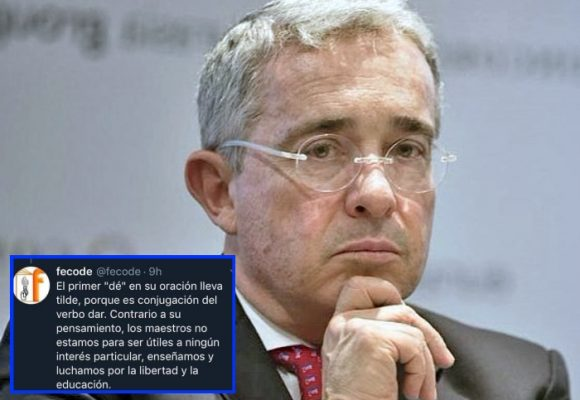 La peinada de FECODE a Álvaro Uribe Vélez