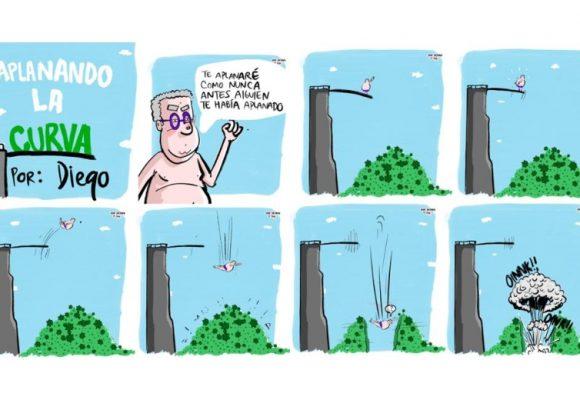 Caricatura: Aplanando la curva